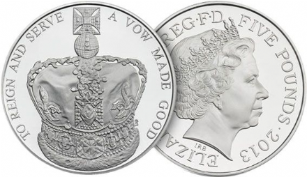 2013 Royal Mint 60th Anniversary Coronation Crown